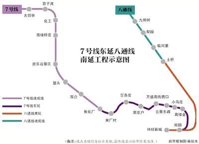 北京地铁7号线东延室内装修完成9