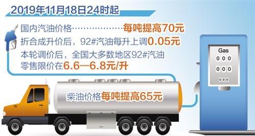 """国内成品油价格11月份""""两连涨"""""""