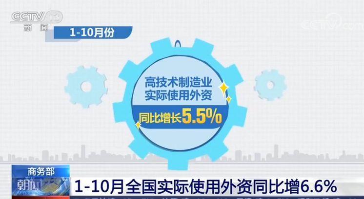 商务部:前10月全国实际 中专中技招考网使用外资同比增6.6% 高技术产业增长快