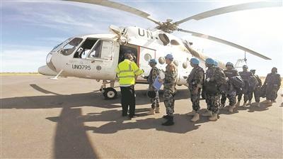 中国维和部队协助关闭联非达团驻尼亚拉超级营地