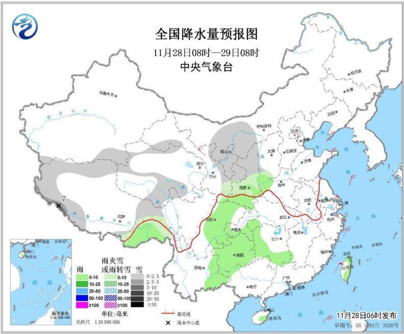 中东部地区将有雨雪天气 安徽浙江江西等地出现降雨 东部和南部海区有大风