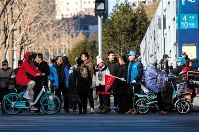 """北京交通志愿者""""眼观八方""""完成""""最冷一天执勤"""""""