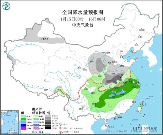 """中東部大范圍雨雪天氣又要""""開工"""" 華北黃淮霾反復"""