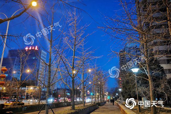 北京今明晴冷持續最高溫0℃出頭 周四夜間山區或有小雪