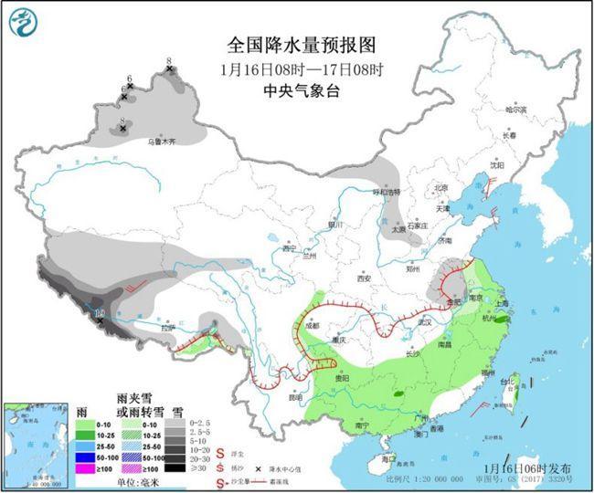 南方阴雨将持续 华北黄淮等地将有霾天气