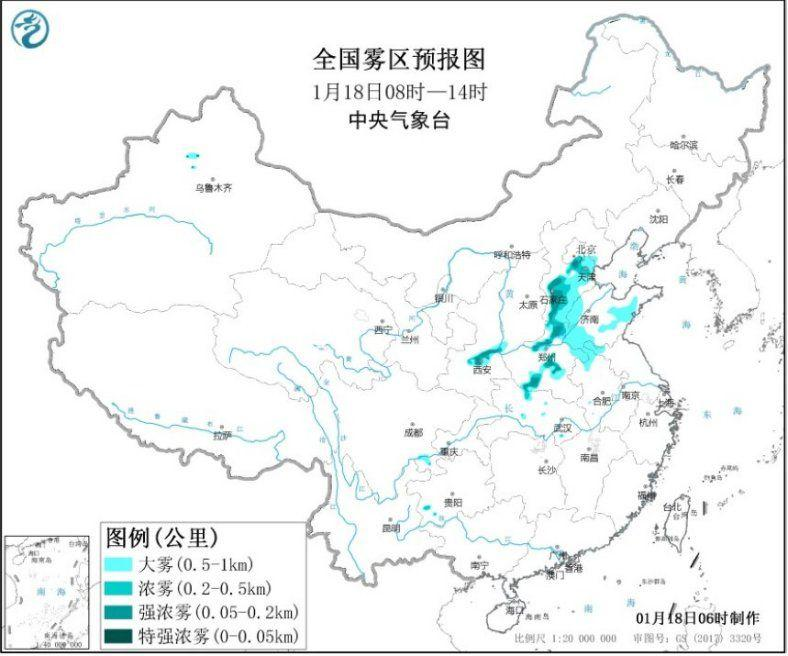 华北黄淮等地有雾和霾 青藏高原等地有较强降雪图片