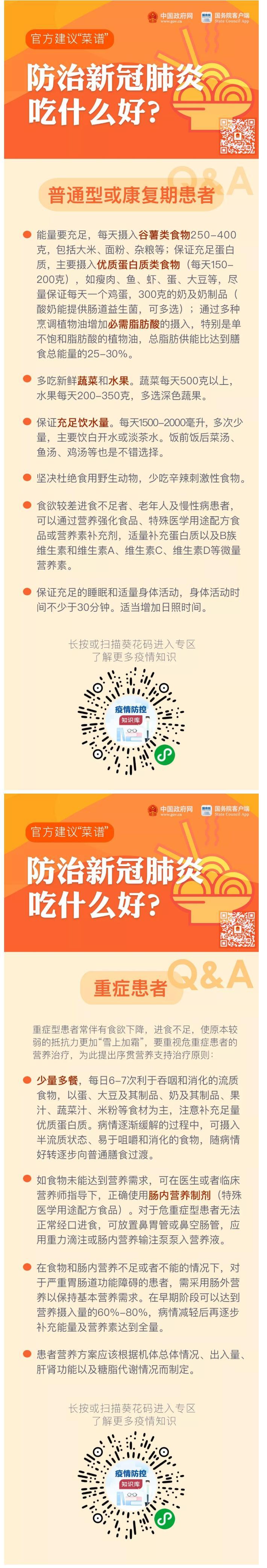 """防治新冠肺炎吃什么好?官方建议""""深圳助孕菜谱""""来了!"""