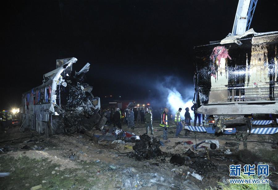 叙利亚首都附近发生重大交通事故