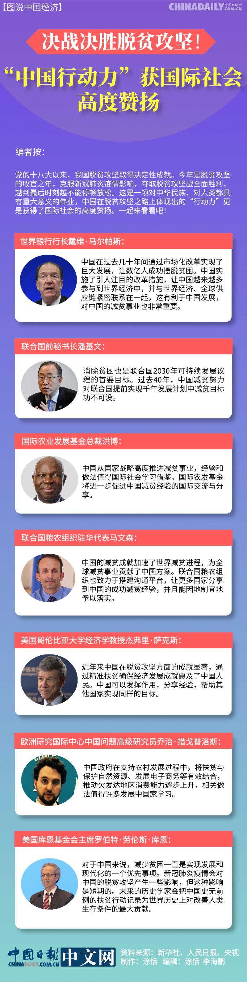 """决战决胜脱贫攻坚!""""中国行动力""""获国际社会高度赞扬"""