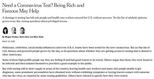 美国有钱有势的人能优先检测新冠肺炎 特朗普默许不公存在:也许这就是人生-阳光在线