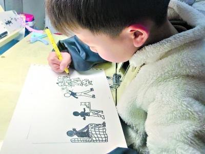 父母一线奋战 7岁儿子奇思妙想创作战疫绘本