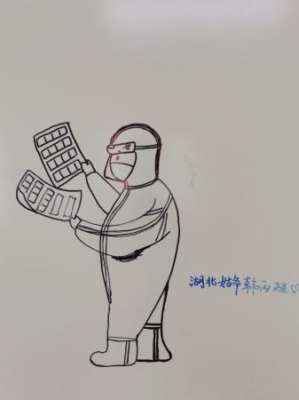 火神山一线实录丨三支记号笔