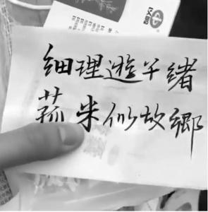 中国留学生晒健康包毛笔手写原创诗火了