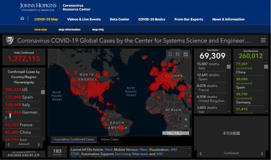 """日点击超10亿 两名中国博士生""""操盘""""全球最流行新冠肺炎疫情图"""