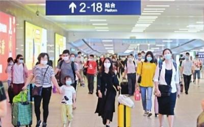 武铁日发送旅客一周增5万人 机场日均进出客流超万人
