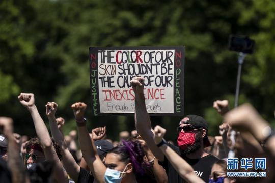 (国际)(10)美国民众继续举行游行示威抗议种族歧视