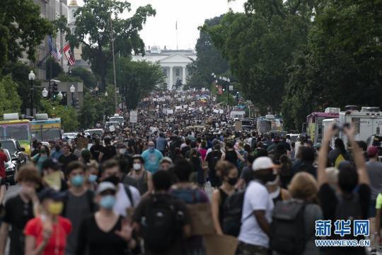 (国际)(3)美国民众继续举行游行示威抗议种族歧视