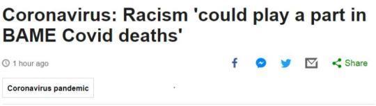英媒:报告显示种族主义和社会不平等使疫情对少数族裔人群的影响更大