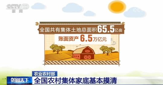 农业农村部:全国农村集体家底基本摸清