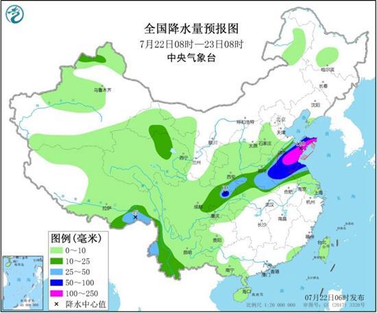 强降雨今日达兴盛四川盆地至黄淮局地挺大暴雨
