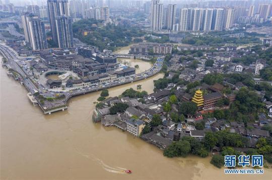 长江、嘉陵江洪峰叠加来袭 重庆主城多处超保证水位