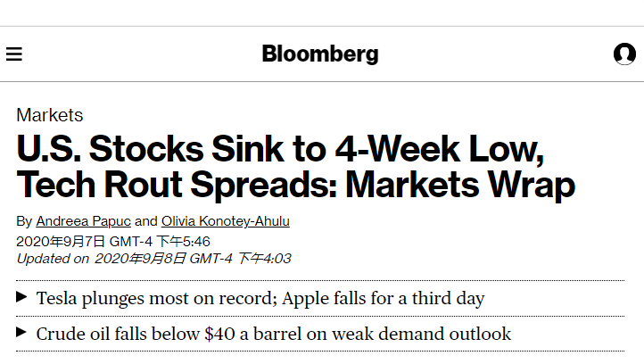 科技股拖累美股三连跌 政治动荡继续搅动市场_人人都是CEO