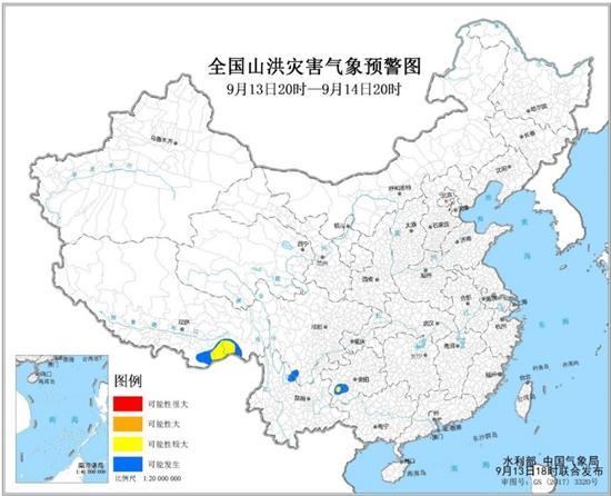 山洪灾害气象预警 川黔滇等4省区部分地区可能发生山洪