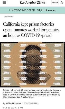 """北美不悦目察丨""""仆从工厂""""疫情荼毒仍赓续工 美国监狱生存状况恶险"""