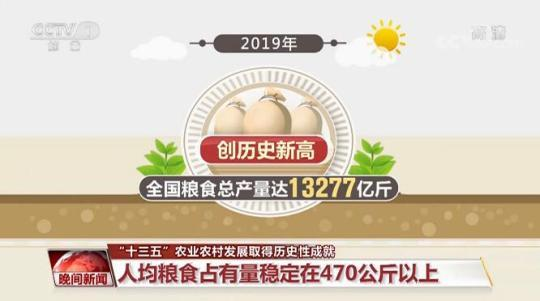 """""""十三五""""农业农村发展取得历史性成就"""