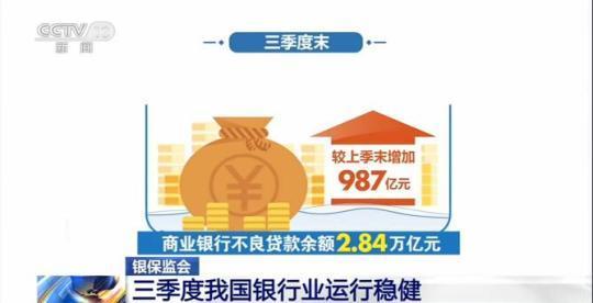 三季度我国银行业保持平稳增长 对实体经济服务能力持续增强