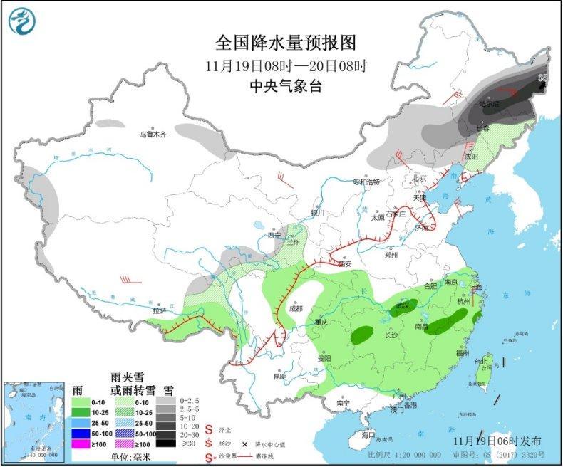 """长江中下游迎""""断崖式""""降温 中东部明起再迎新一轮雨雪"""