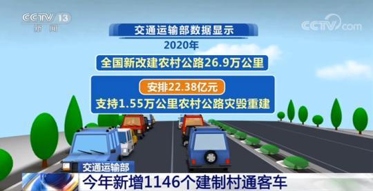 今年新增1146个建制村通客车 新改建农村公路26.9万公里