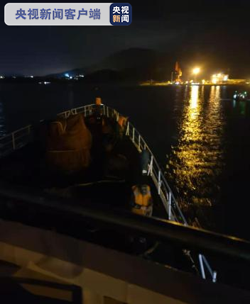 海南乐东一船舶漏水沉没 5人获救2人失联