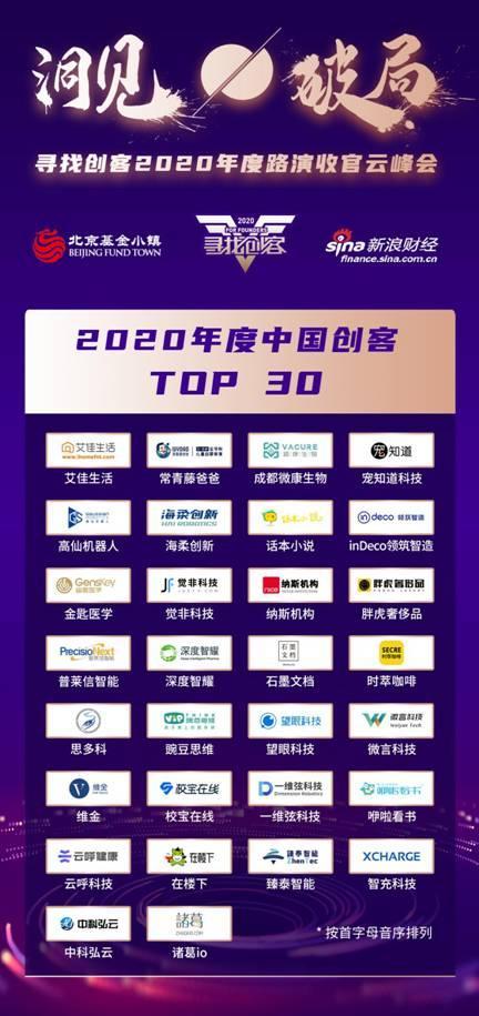"""""""2020年度十大中国创客""""榜单公布"""