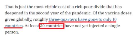 """环球深观察丨还在搞""""疫苗民族主义""""?!这些国家又被狠狠敲打了"""