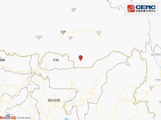 西藏山南市错那县发生4.8级情事 韩国地震 震源深度25千米