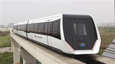 成都内嵌式磁浮交通系统亮相 市域时速160公里