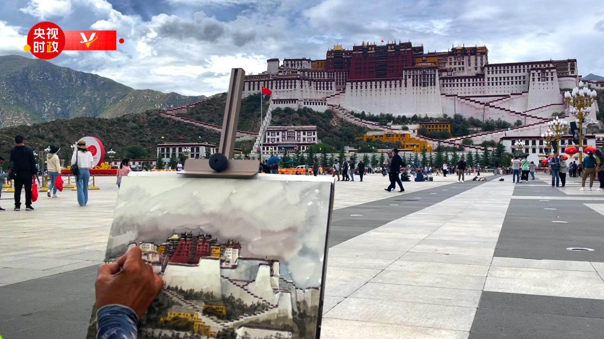 习近平西藏行丨走进布达拉宫广场