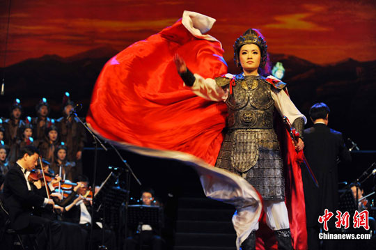 中国人民解放军总政歌舞团编导的大型歌剧《木兰诗篇》在深圳华夏