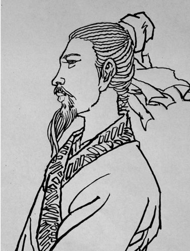 苏轼画像简笔画步骤
