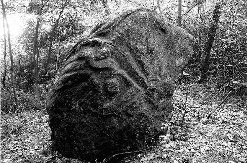 浙江/蛋形巨石上的图案犹如中国古代青铜器工艺。薛荣生摄