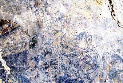 徐州残破道观现精美古壁画专家 价值无法估量
