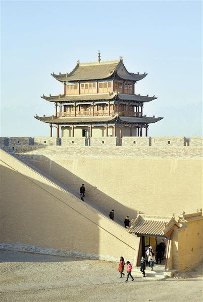 嘉峪关关城城墙完成保护维修经三年多施工(图)