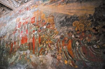 女孩修复古壁画引争议系实习生已离开寺庙(图)