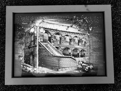 90后才子钢笔画制成明信片 作品被规划馆收藏