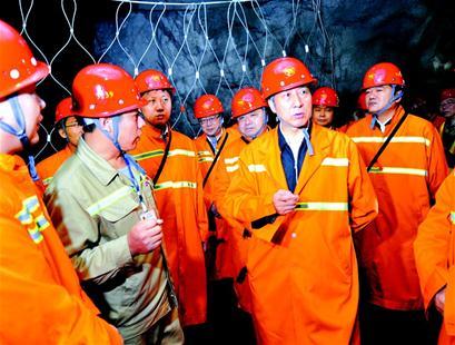 国务委员湖北鄂州下矿井强调不要带血的GDP(图)