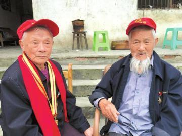 95岁抗战老兵分别70年后重逢:不知还能否再见(图)