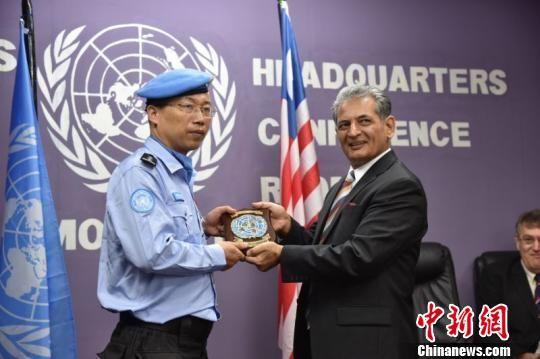 中国(江西)第14支赴利比里亚维和警队获联合国和平勋章