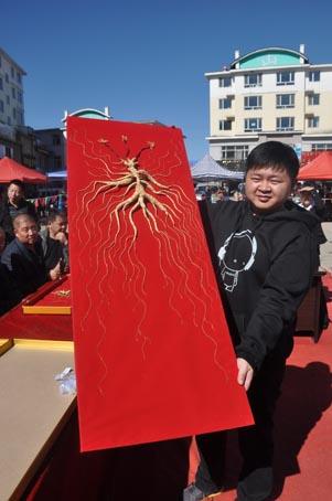 中国最大山参市场举行参王评选活动