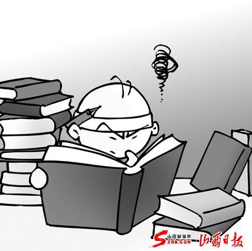 医学生学习卡通